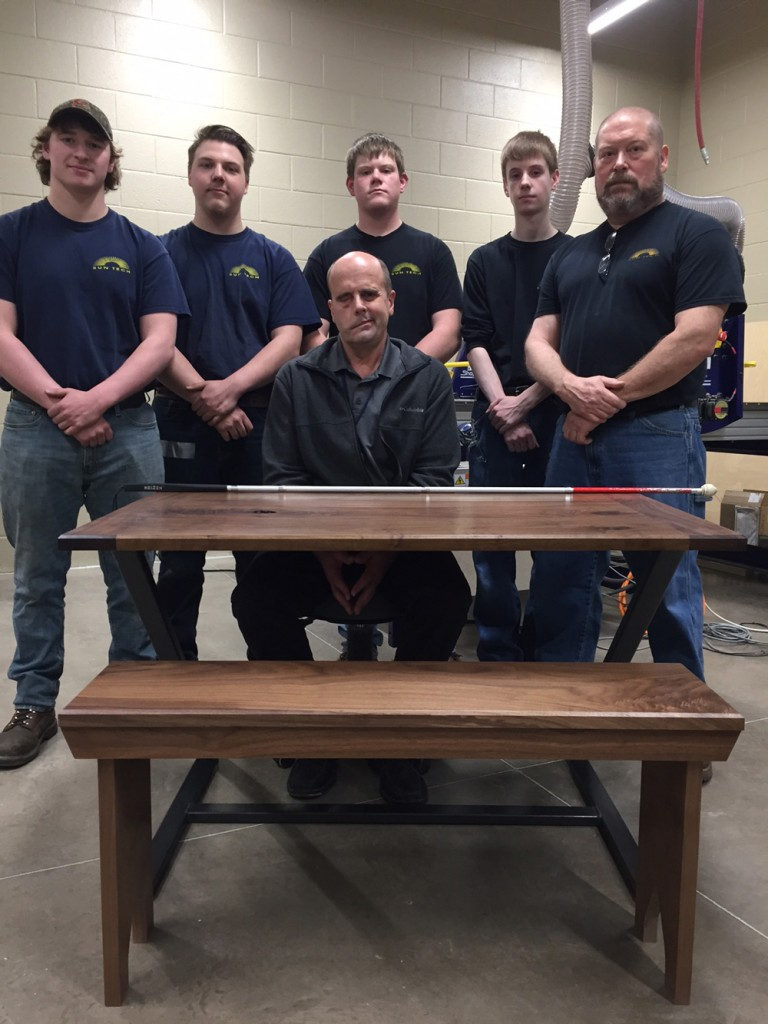 SUN-Tech-Advanced-Wood-program-builds-table