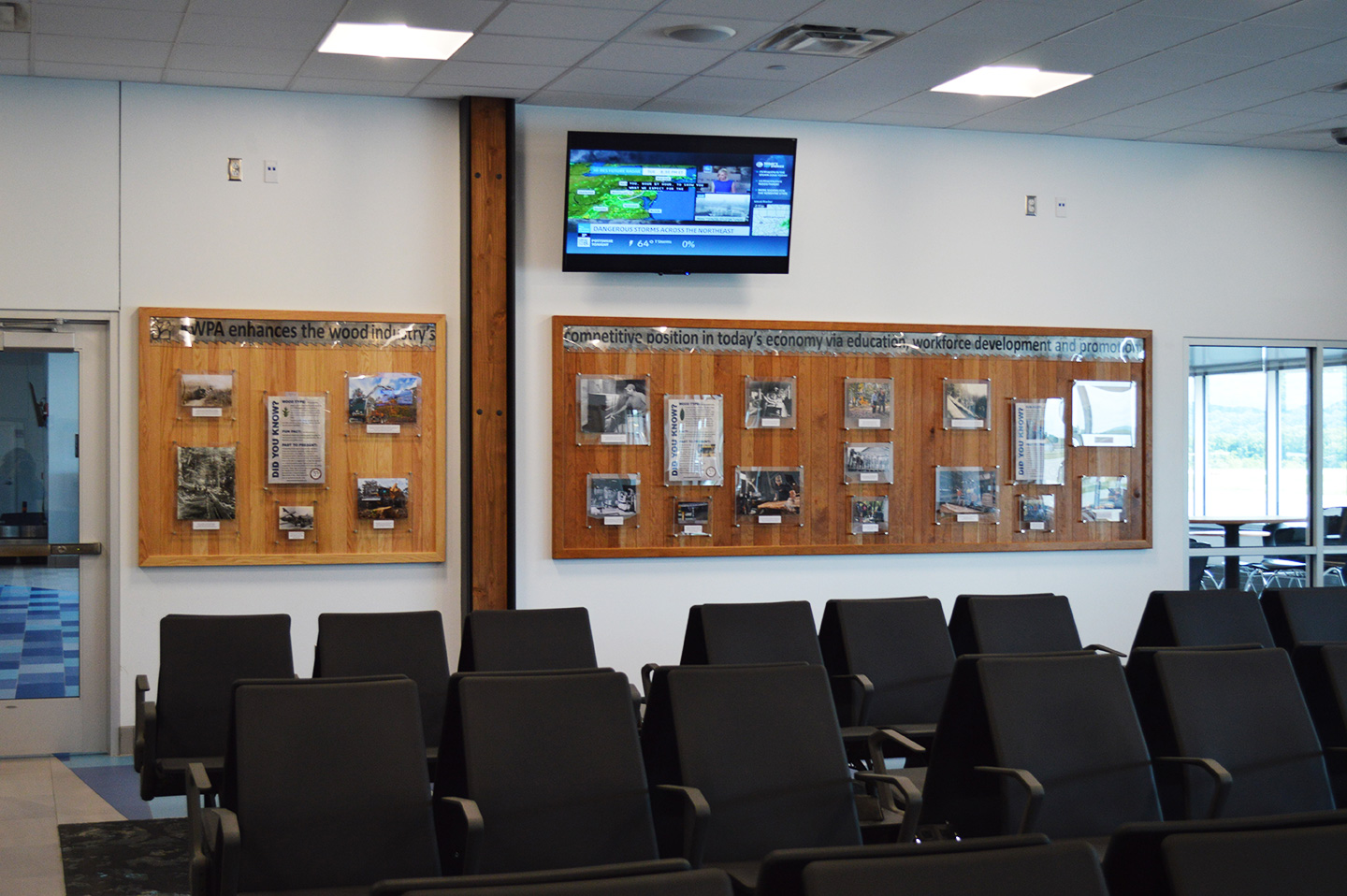 KWPA Donates Pennsylvania Hardwood Educational Display to the Williamsport Regional Airport - Image
